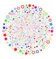decoration stars festival spheric cluster vector image vector image