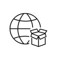 Delivery icon in thin line style business icon