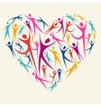 Embrace diversity concept heart vector image