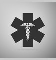 emergency star - medical symbol caduceus snake vector image vector image