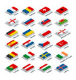 euro 2016 in france flags european countries vector image