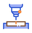 factory drilling metallurgical icon vector image