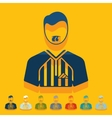 Flat design referee vector image vector image