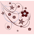 Floral ornament in red vector image vector image