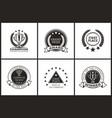 grand prize of champion monochrome logotypes set vector image