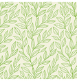 Green leaves pattern vector image