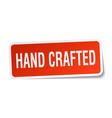 hand crafted square sticker on white vector image vector image