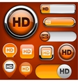 Hd high-detailed web button collection vector | Price: 1 Credit (USD $1)