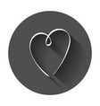 hearts icon love hand drawn with long shadow vector image vector image