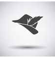 Hunter hat with feather icon vector image vector image