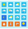 Icon set of weather icons with snow rain sun and vector image vector image