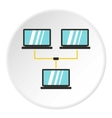 LAN icon flat style vector image vector image