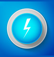 lightning bolt icon flash icon charge flash icon vector image