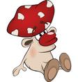 Magic poisonous mushroom vector image