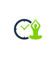 meditation time logo icon design vector image vector image