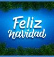 merry christmas card design with spanish text vector image