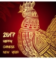 New Year greeting card with Gold Roosters vector image vector image
