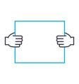 project presentation thin line stroke icon vector image
