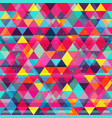 rainbow color triangles seamless texture vector image vector image