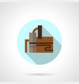 refinery industry flat round icon vector image vector image
