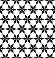 Repeat black and white geometric pattern vector image vector image