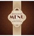 Restaurant cafe menu brochure template vector image