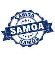 samoa round ribbon seal vector image vector image