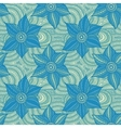 seamless pattern of hand-drawn flowers vector image
