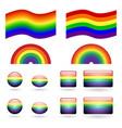 set gay pride symbols vector image