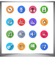 Set of flat color buttons vector image