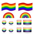 set of gay pride symbols vector image