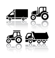 Set of transport icons - Tractor and Tipper vector image