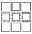 set square frames with old greek ornament vector image vector image