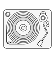 single gramophone icon vector image vector image