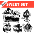 Sketch sweet set vector image vector image