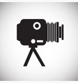 studio film photo camera icon on white background vector image