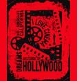 template grunge cinema poster vector image
