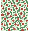 tomato and cucumber pattern vector image vector image