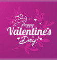 valentines day card stylized template vector image vector image