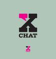 x chat secret comics bubble vector image vector image