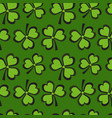 st patricks day seamless pattern with clover vector image