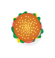 hamburger in colorful vector image
