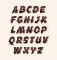 comic funny abc font vector image