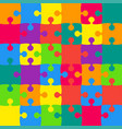 36 multicolor background puzzle jigsaw vector image vector image