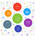 7 shopping icons vector image vector image