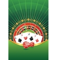 Abstract background with gambling elements vector image vector image