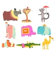 African Animals With Human Attributes And Clothing vector image