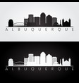 albuquerque usa skyline and landmarks silhouette vector image vector image