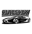 auto show monochrome vector image
