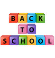 back to school on square boxes vector image